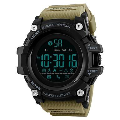 SKMEI رجالي ساعة رياضية ساعة رقمية رقمي جلد اصطناعي أسود / أزرق / أحمر 50 m مقاوم للماء بلوتوث رزنامه رقمي ترف كاجوال - أزرق كاكي التمويه الخضراء / ساعة التوقف