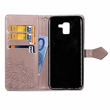 Θήκη Za Samsung Galaxy J6 / J4 Novčanik / Utor za kartice / sa stalkom Korice Mandala Tvrdo PU koža
