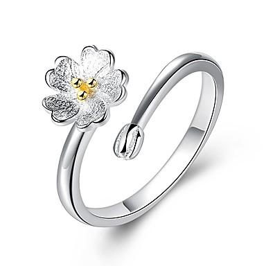 Žene Band Ring zamotajte prsten 1pc Srebro Imitacija dijamanta Legura dame Romantični slatko Večer stranka Festival Jewelry Klasičan Sa stilom Cvijet