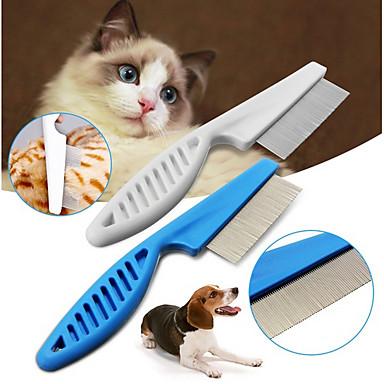 كلاب قطط الاستمالة التنظيف بلاستيك أمشاط كاجوال / يومي حيوانات أليفة أدوات الحلاقة أبيض 1
