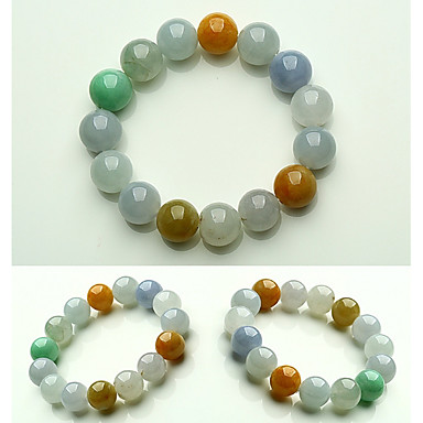 Heren Jade Kralenarmband kralen Creatief Bal Eenvoudig Standaard Steen Armband sieraden Regenboog Voor Lahja Afspraakje