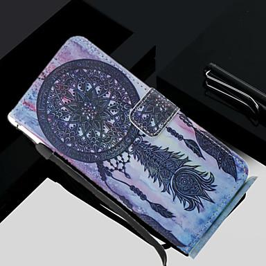 Недорогие Чехлы и кейсы для Galaxy S3-Кейс для Назначение SSamsung Galaxy S8 Plus / S8 / S7 edge Кошелек / Бумажник для карт / со стендом Чехол Ловец снов Твердый Кожа PU