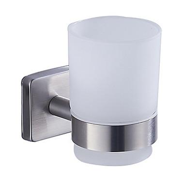 حاملة فرشاة الأسنان تصميم جديد / كوول معاصر الفولاذ المقاوم للصدأ / الحديد 1PC فرشاة الأسنان وملحقاتها مثبت على الحائط