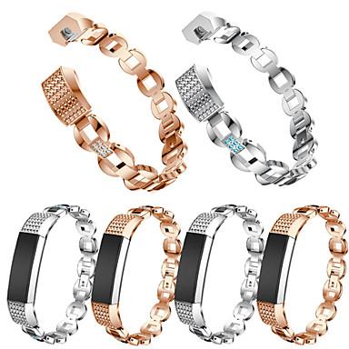 voordelige Smartwatch-accessoires-Horlogeband voor Fitbit Alta HR / Fitbit Alta Fitbit Sportband / Sieradenontwerp Roestvrij staal / Keramiek Polsband