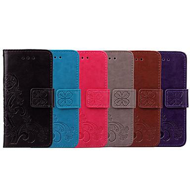Недорогие Чехлы и кейсы для Sony-Кейс для Назначение Sony Xperia L2 Бумажник для карт / Флип Чехол Мандала / Однотонный Мягкий Кожа PU