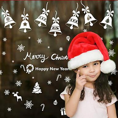 فيلم نافذة وملصقات زخرفة عيد الميلاد طباعة / عطلة PVC ملصق النافذة