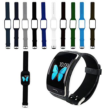Недорогие Аксессуары для смарт-часов-Ремешок для часов для Gear S R750 Samsung Galaxy Спортивный ремешок силиконовый Повязка на запястье