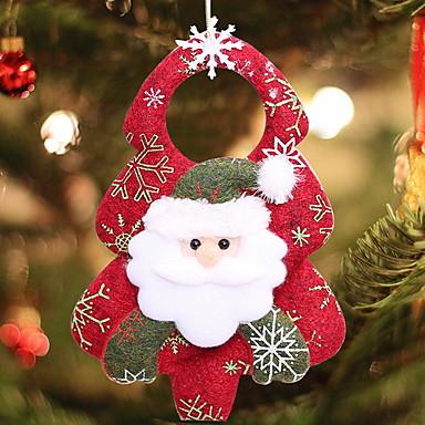 عيد الميلاد الحلي عطلة نسيج القطن مربع حداثة زينة عيد الميلاد