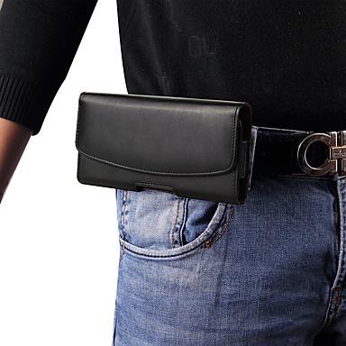 Недорогие Универсальные чехлы и сумочки-Кейс для Назначение Xiaomi Xiaomi Mi Max 2 / Xiaomi Mi Mix 2 / Xiaomi Mi Mix Защита от пыли Мешочек Однотонный Твердый Настоящая кожа