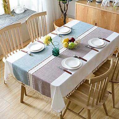 معاصر 100g / m2 البوليستر الإمتداد حك محبوكة مربع قماش الطاولة هندسي الجدول ديكورات 1 pcs