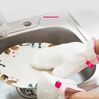 مطبخ معدات تنظيف ألياف قفازات حماية / أدوات 1SET