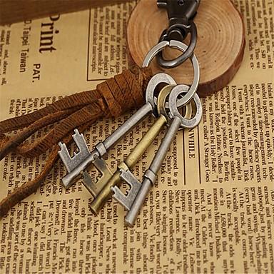 سلسلة المفاتيح كاجوال موضة خواتم مجوهرات بني من أجل مواعدة شارع