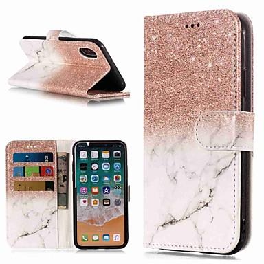 Θήκη Za Apple iPhone XS / iPhone XR / iPhone XS Max Novčanik / Utor za kartice / sa stalkom Korice Mramor Tvrdo PU koža