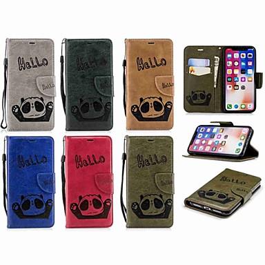 Θήκη Za Apple iPhone X / iPhone 8 Plus / iPhone 8 Novčanik / Utor za kartice / Zaokret Korice Panda Tvrdo PU koža