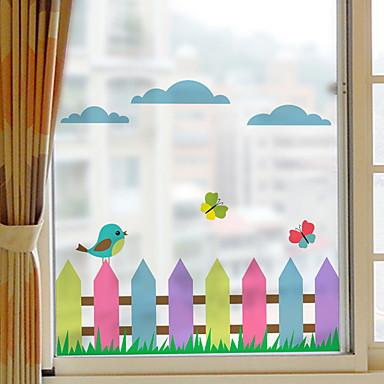 فيلم نافذة وملصقات زخرفة العادي / تصميم أنيق شخصية PVC ملصق النافذة