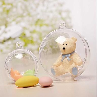 5 قطع 8 سنتيمتر الميلاد زينة الزينة الكرة شفافة مفتوحة البلاستيك واضحة الحلي هدية زخرفة مربع الحالية