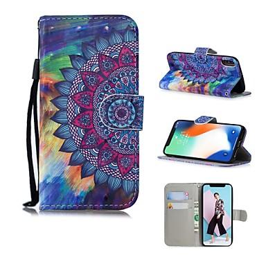 Недорогие Кейсы для iPhone X-Кейс для Назначение Apple iPhone XS / iPhone XR / iPhone XS Max С узором Чехол Мандала / Масляный рисунок / Цветы Твердый Кожа PU
