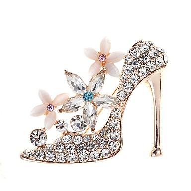 povoljno Broševi-Žene Broševi 3D Za cipele dame Jednostavan Elegantno Boja fantazija Umjetno drago kamenje Broš Jewelry Zlato Za Dnevno