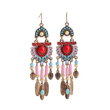 Žene Tirkiz Viseće naušnice dame Vintage Naušnice Jewelry Zlato Za Dnevno 1 par