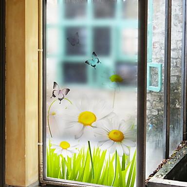 فيلم نافذة وملصقات زخرفة العادي شخصية PVC ملصق النافذة / شفاف