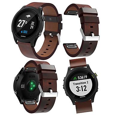 voordelige Smartwatch-accessoires-Horlogeband voor Voorloper 945 / Forerunner 935 Garmin Leren lus Echt leer Polsband