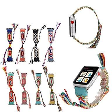 Pogledajte Band za Apple Watch Series 5/4/3/2/1 Apple Kožni remen Najlon / Prava koža Traka za ruku