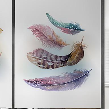 فيلم نافذة وملصقات زخرفة فني / ريترو شخصية PVC جميل