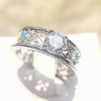 Žene Band Ring Prsten 1pc Srebro Kamen Platinum Plated Imitacija dijamanta Četiri drška dame Moda Elegantno Vjenčanje Dnevno Jewelry Totem Series Cool