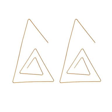 Žene Viseće naušnice Geometrijski Kreativan Jednostavan Jedinstven dizajn Europska Naušnice Jewelry Zlato Za Kauzalni Ulica 1 par