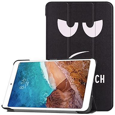 Недорогие Чехлы и кейсы для Xiaomi-Кейс для Назначение Xiaomi Xiaomi Tab 4 со стендом / Флип / С узором Чехол Мультипликация Твердый ПК