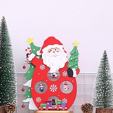 1889 Adornos Navidad De Madera Juguete De Dibujos Animados Novedades Decoración Navideña