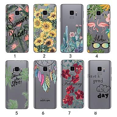 Θήκη Za Samsung Galaxy S9 / S9 Plus / S8 Plus Ultra tanko / Prozirno Korice Biljke Mekano TPU