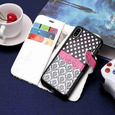 Недорогие Кейсы для iPhone 7-Кейс для Назначение Apple iPhone XS / iPhone XR / iPhone XS Max Кошелек / Бумажник для карт / со стендом Чехол Мультипликация Твердый Кожа PU