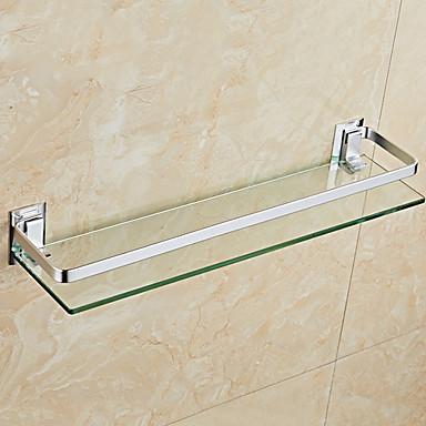 رف الحمام تصميم جديد / كوول الحديث زجاج / الفولاذ المقاوم للصدأ / الحديد 1PC مثبت على الحائط