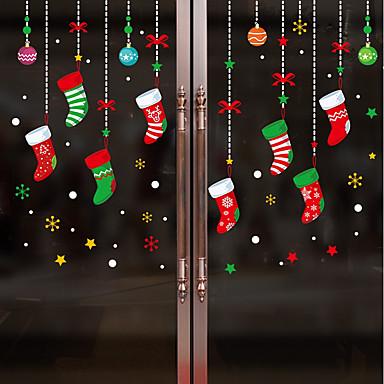 فيلم نافذة وملصقات زخرفة عيد الميلاد شخصية PVC ملصق النافذة / بديع / مضحك