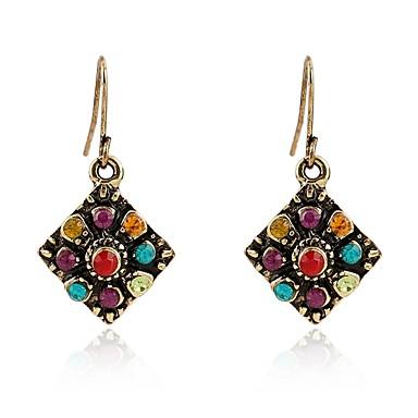 Žene Viseće naušnice Vintage Style dame Boemski stil Umjetno drago kamenje Naušnice Jewelry Zlato Za Dnevno 1 par