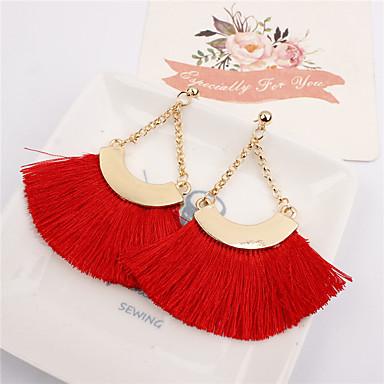 Žene Viseće naušnice Rese dame Jednostavan Europska Moda Naušnice Jewelry Plava / Pink / Lila-roza Za Kauzalni Dnevno 1 par