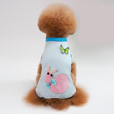 كلاب / قطط منامة ملابس الكلاب هندسي / حيوان / كارتون أزرق / زهري قطن كوستيوم للحيوانات الأليفة الصيف انثى تصميم أنيق / كاجوال / يومي