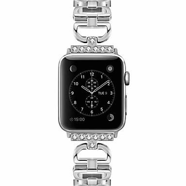 Недорогие Аксессуары для смарт-часов-SmartWatch для Apple Watch серии 4/3/2/1 Apple, ювелирные изделия дизайн металлический ремешок