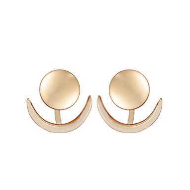 Žene Sitne naušnice Perlice Sa stilom Sunce MOON dame Jednostavan Klasik Naušnice Jewelry Zlato / Pink Za Dnevno Rad 1 par
