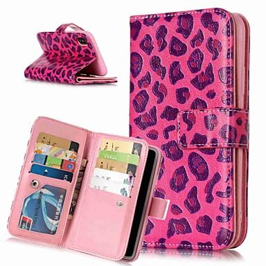 Недорогие Кейсы для iPhone 6-Кейс для Назначение Apple iPhone XS / iPhone XR / iPhone XS Max Кошелек / Бумажник для карт / со стендом Чехол Леопардовый принт / Животное Твердый Кожа PU