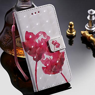 Θήκη Za Apple iPhone XS / iPhone XR / iPhone XS Max Utor za kartice / sa stalkom Korice Cvijet Tvrdo PU koža