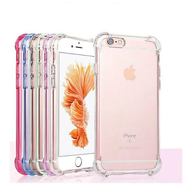 voordelige iPhone-hoesjes-hoesje Voor Apple iPhone X / iPhone 8 Plus / iPhone 8 Schokbestendig / Transparant Achterkant Effen Zacht TPU