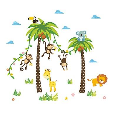 Dekorativne zidne naljepnice - Zidne naljepnice / Naljepnice za zidne zidove Životinje / Cvjetni / Botanički Dječja soba / Može se prati
