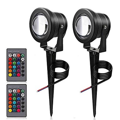 1pc 10 W LED reflektori / travnjak svjetla Vodootporno / Daljinski upravljano / Zatamnjen RGB 12 V Vanjska rasvjeta / Dvorište / Vrt 1 LED zrnca