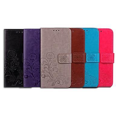 Недорогие Чехлы и кейсы для Nokia-Кейс для Назначение Nokia Nokia 2.1 Бумажник для карт / Флип Чехол Однотонный / Мандала Мягкий Кожа PU