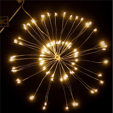 1pc LED noćno svjetlo / LED svjetiljke s vatrometom Toplo bijelo / Bijela / Šarene AA baterije su pogonjene Vodootporno / Daljinski upravljano / Vjenčanje Baterija / <5 V Žice sa svjetlima