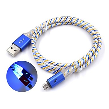 Micro USB Kábel 1m-1.99m / 3ft-6ft Quick Charge Műanyagok USB kábeladapter Kompatibilitás Samsung / Huawei / Nokia