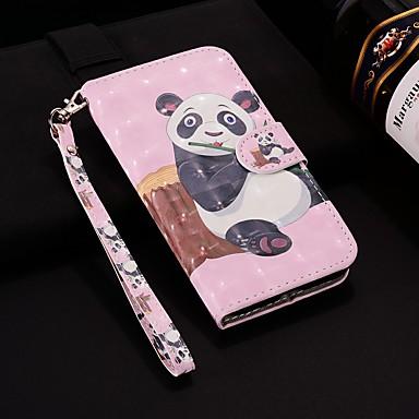 رخيصةأون Xiaomi أغطية / كفرات-غطاء من أجل Xiaomi Redmi Note 5A / Xiaomi Redmi Note 4X / Xiaomi Redmi Note 4 محفظة / حامل البطاقات / مع حامل غطاء كامل للجسم باندا قاسي جلد PU / Xiaomi Mi 6