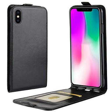 Θήκη Za Apple iPhone XS / iPhone XR / iPhone XS Max Utor za kartice / Zaokret Korice Jednobojni Tvrdo PU koža